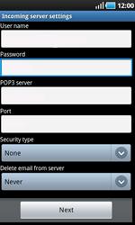 Samsung I9000 Galaxy S - E-mail - Manual configuration - Step 7