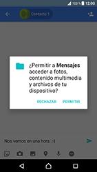 Sony Xperia XZ - Android Nougat - Mensajería - Escribir y enviar un mensaje multimedia - Paso 9