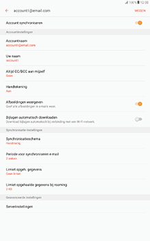 Samsung Galaxy Tab A 10.1 (SM-T585) - E-mail - Instellingen KPNMail controleren - Stap 9