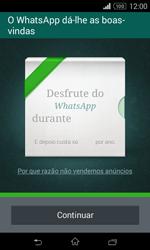 Sony Xperia E1 - Aplicações - Como configurar o WhatsApp -  10