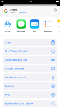 Apple iPhone 8 Plus - iOS 13 - Internet - navigation sur Internet - Étape 5