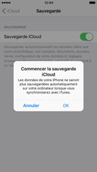 Apple iPhone 6 iOS 10 - Device maintenance - Back up - Étape 12