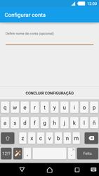 Sony Xperia M4 Aqua - Email - Adicionar conta de email -  10