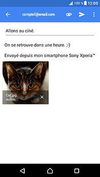 Sony Xperia XA1 Ultra - E-mails - Envoyer un e-mail - Étape 16