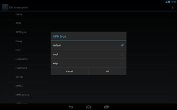 Acer Iconia Tab A3 - Internet - Manual configuration - Step 11
