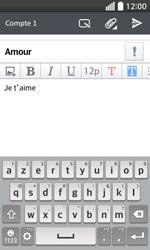 LG F70 - E-mails - Envoyer un e-mail - Étape 10