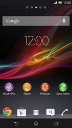 Sony Xperia Z - Internet - Ver uso de datos - Paso 1