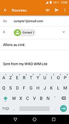 Wiko WIM Lite - E-mails - Envoyer un e-mail - Étape 8