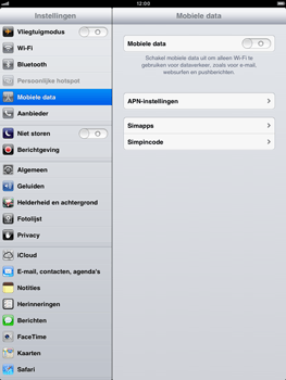 Apple iPad mini - Internet - handmatig instellen - Stap 4