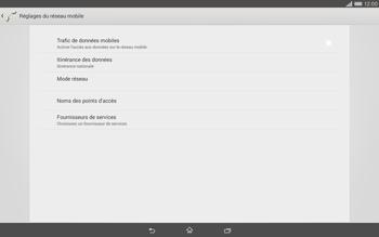 Sony Xperia Tablet Z2 (SGP521) - Internet - activer ou désactiver - Étape 8