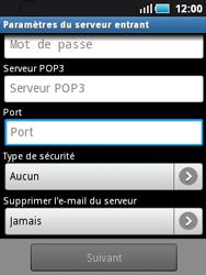 Samsung S5570 Galaxy Mini - E-mail - Configuration manuelle - Étape 8