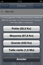Apple iPhone 4 - iOS 6 - E-mail - envoyer un e-mail - Étape 12