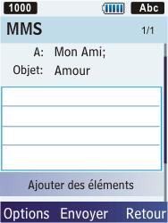 Samsung S5610 Primo - MMS - envoi d'images - Étape 9