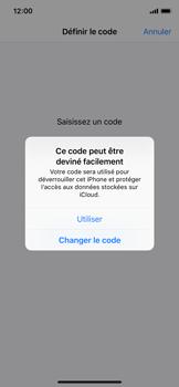 Apple iPhone XS - iOS 12 - Sécuriser votre mobile - Activer le code de verrouillage - Étape 6