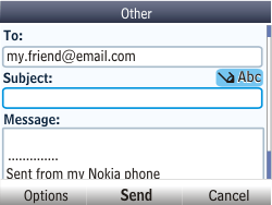 Nokia Asha 201 - Email - Sending an email message - Step 10