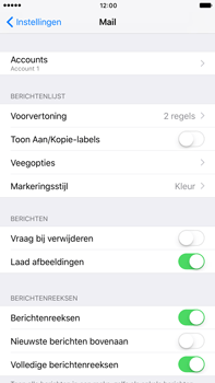 Apple iPhone 6 Plus iOS 10 - E-mail - Account instellen (POP3 zonder SMTP-verificatie) - Stap 27