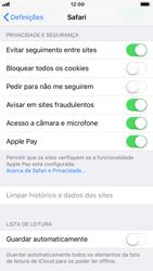 Apple iPhone 8 - Dados - Como limpar cookies/cache/histórico -  6