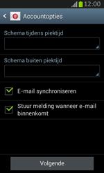 Samsung S7710 Galaxy Xcover 2 - E-mail - e-mail instellen: IMAP (aanbevolen) - Stap 17