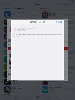 Apple iPad 9.7 (Model A1823) - Applicaties - Account aanmaken - Stap 23