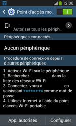 Samsung Galaxy Ace 3 - Internet et connexion - Partager votre connexion en Wi-Fi - Étape 12