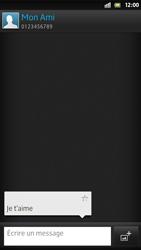Sony Xpéria S - Contact, Appels, SMS/MMS - Envoyer un SMS - Étape 11
