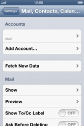 Apple iPhone 4 S iOS 6 - Email - Manual configuration - Step 11