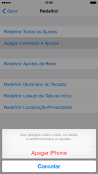 Apple iPhone iOS 8 - Funções básicas - Como restaurar as configurações originais do seu aparelho - Etapa 8