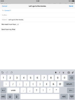 Apple iPad mini 4 - Email - Sending an email message - Step 8
