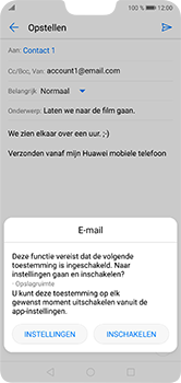 Huawei P20 Lite - E-mail - e-mail versturen - Stap 10