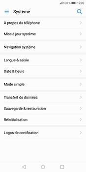 Huawei P Smart - Aller plus loin - Restaurer les paramètres d'usines - Étape 5