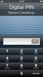 Apple iPhone iOS 6 - Funções básicas - Como reiniciar o aparelho - Etapa 6