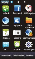 Samsung S5620 Monte - Voicemail - Handmatig instellen - Stap 3