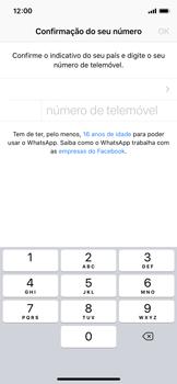Apple iPhone X - iOS 12 - Aplicações - Como configurar o WhatsApp -  8