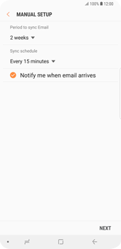 Samsung Galaxy S9 Plus - E-mail - Manual configuration - Step 17