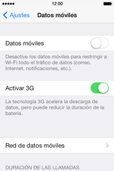 Apple iPhone 4S iOS 7 - Internet - Configurar Internet - Paso 4
