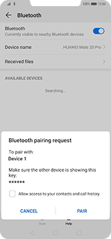 Huawei Mate 20 Pro - Bluetooth - Pair with another device - Step 7