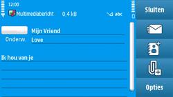 Nokia N97 - MMS - Afbeeldingen verzenden - Stap 12