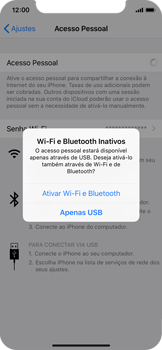 Apple iPhone iOS 12 - Wi-Fi - Como usar seu aparelho como um roteador de rede wi-fi - Etapa 7