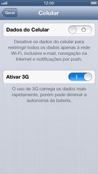 Apple iPhone iOS 6 - Rede móvel - Como ativar e desativar uma rede de dados - Etapa 6