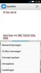 Alcatel OT-6012X Idol Mini - E-mail - Hoe te versturen - Stap 10