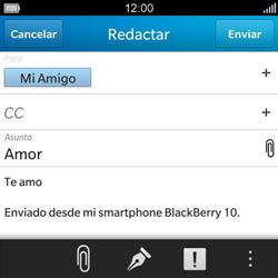 BlackBerry Q5 - E-mail - Escribir y enviar un correo electrónico - Paso 11