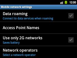 Samsung B5510 Galaxy TXT - Network - Usage across the border - Step 6