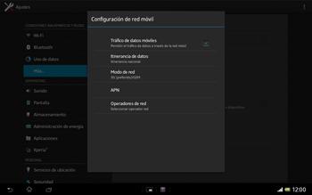 Sony Xperia Tablet Z - Internet - Configurar Internet - Paso 8