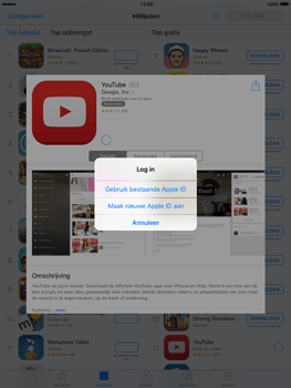 Apple iPad Air iOS 9 - Applicaties - Account aanmaken - Stap 7