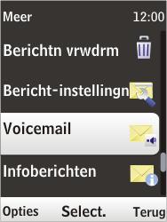 Nokia 6303i classic - Voicemail - Handmatig instellen - Stap 5