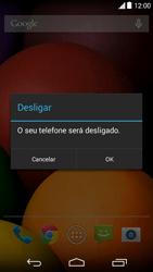 Motorola Moto E (1st Gen) (Kitkat) - Funções básicas - Como reiniciar o aparelho - Etapa 4