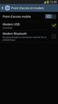 Samsung Galaxy Note 3 - Internet et connexion - Utiliser le mode modem par USB - Étape 7