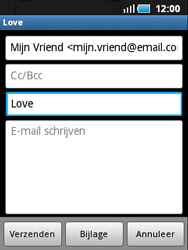 Samsung S5570 Galaxy Mini - E-mail - e-mail versturen - Stap 6