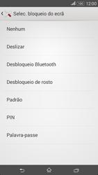 Sony Xperia E4 - Segurança - Como ativar o código de bloqueio do ecrã -  6