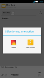 Bouygues Telecom Ultym 4 - Contact, Appels, SMS/MMS - Envoyer un MMS - Étape 14